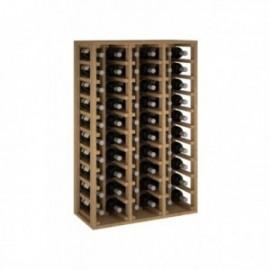 Botellero de madera de pino para 60 botellas para 60 Botellas color Pino Roble claro GODELLO
