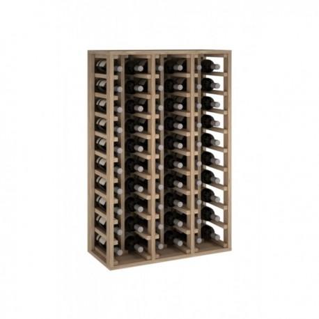 Botellero de madera de pino para 60 botellas para 60 Botellas color Roble Natural GODELLO