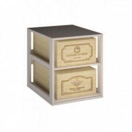 MUEBLE PARA 2 CAJAS DE 12 BOTELLAS para 2 Cajas color Pino Blanco GODELLO
