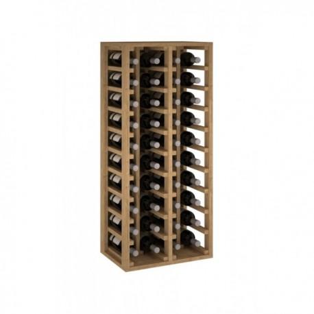 BOTELLERO MADERA DE PINO PARA 40 BOTELLAS para 40 Botellas color Pino Negro GODELLO