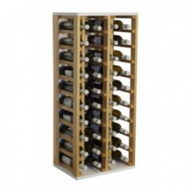 Botellero de madera para 40 botellas