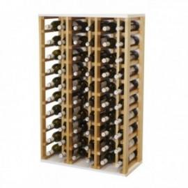 Botellero de madera para 60 botellas