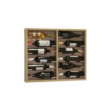 Botellero de madera para 12 botellas