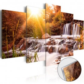 Quadro acrílico - Autumn's Valley [Glass]