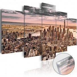 Cuadro acrílico - New York City: Morning Sky [Glass]