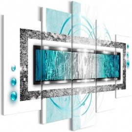 Quadro - Turquoise blizzard (5 Parts) Wide
