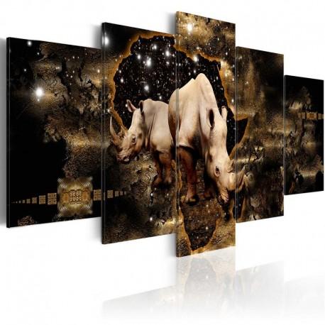 Cuadro - Rinoceronte dorado