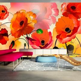 Fotomural XXL - Velvet poppies