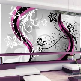 Papel de parede autocolante - Art-flowers (pink)
