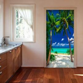 Fotomural para porta - Photo wallpaper - Island, beach I