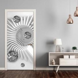 Fotomural para porta - Photo wallpaper - Black and white abstraction I