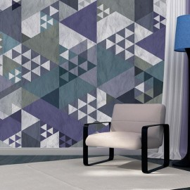 Fotomural - Blue patchwork