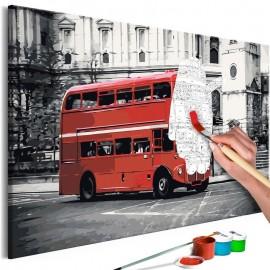 Cuadro para colorear - London Bus