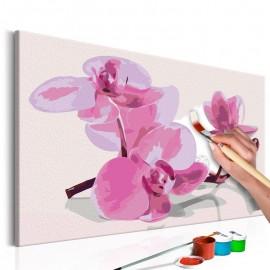 Quadro pintado por você - Orchid Flowers