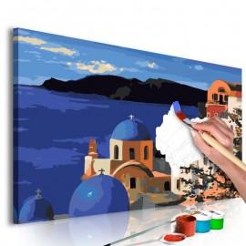 Quadro pintado por você - Santorini