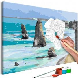 Cuadro para colorear - Rocks in the Sea