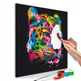 Cuadro para colorear - Colourful Leopard