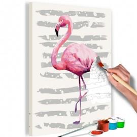 Quadro pintado por você - Beautiful Flamingo
