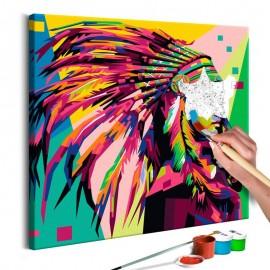 Quadro pintado por você - Native American (Plume)