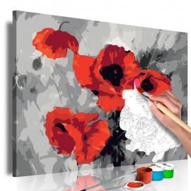 Quadro pintado por você - Bouquet of Poppies