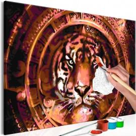 Cuadro para colorear - Tiger and Ornaments