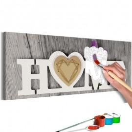 Quadro pintado por você - Home and Butterfly
