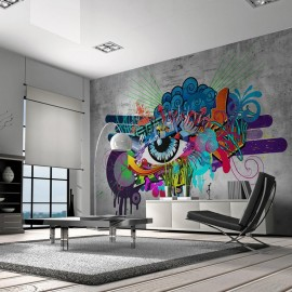 Fotomural autoadhesivo - Graffiti eye