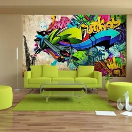 Papel de parede autocolante - Funky - graffiti