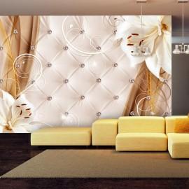 Papel de parede autocolante - Lilies and gold