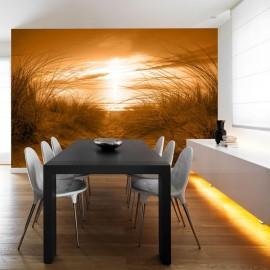 Papel de parede autocolante - beach (sepia)