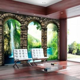 Papel de parede autocolante - Mysterious waterfall