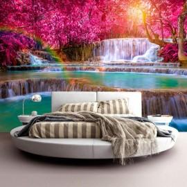 Papel de parede autocolante - Pink Cascades