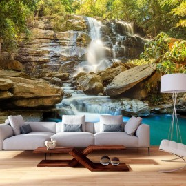 Papel de parede autocolante - Waterfall in Chiang Mai, Thailand