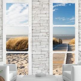 Papel de parede autocolante - Beach: view from the window