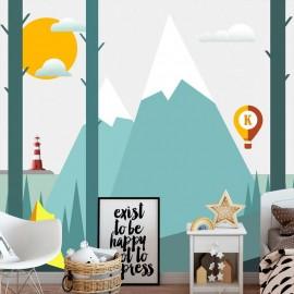 Papel de parede autocolante - On the Camping