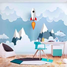 Papel de parede autocolante - Rocket in the Clouds