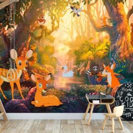 Papel de parede autocolante - Animals in the Forest