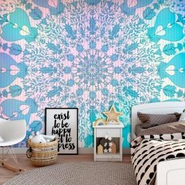 Papel de parede autocolante - Girly Mandala (Blue)