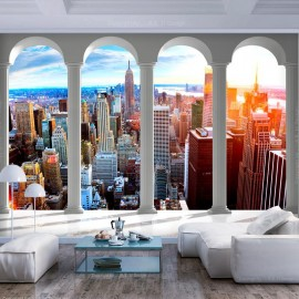 Fotomural - Pillars and New York