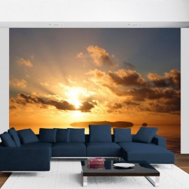 Fotomural - mar - puesta del sol