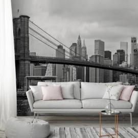 Fotomural autoadhesivo - Road to Manhattan (Black and White)