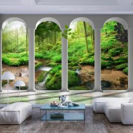Papel de parede autocolante - Pillars and Forest