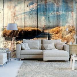 Papel de parede autocolante - Wooden Beach