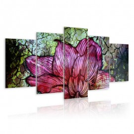 Quadro - Flowery stained glass