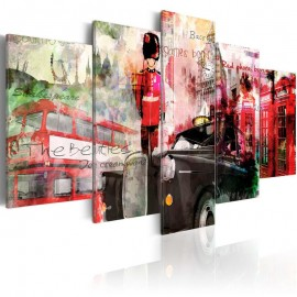 Cuadro - Memorias de Londres - 5 piezas