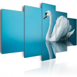 Quadro - A swan in blue