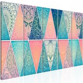 Quadro - Oriental Triangles (5 Parts) Narrow