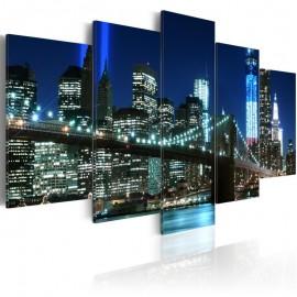 Cuadro - Nueva York en color azul