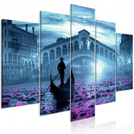 Cuadro - Magic Venice (5 Parts) Wide Blue