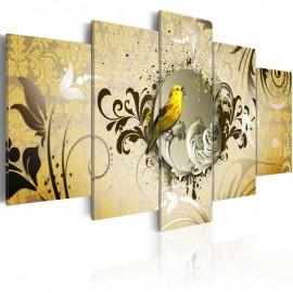 Cuadro - Canto del pájaro amarillo